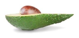 Metà di un avocado Immagini Stock