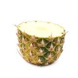 Metà inferiore di un ananas isolato Fotografie Stock Libere da Diritti