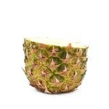 Metà inferiore di un ananas isolato Fotografia Stock Libera da Diritti