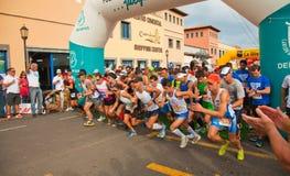 Metà-maratona di Fuerteventura Fotografia Stock