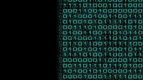 Metáfora da aprendizagem de máquina, números do cérebro do cyber ilustração stock