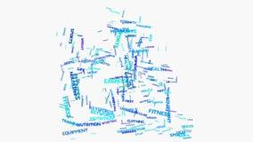 Metáfora da nuvem da palavra da escada rolante à saúde, nutrição, dieta, bem-estar, corpo, Imagem de Stock