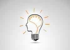 Metáfora de la bombilla para la buena idea Fotografía de archivo libre de regalías