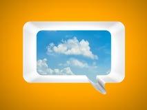Metáfora de la comunicación Imagen de archivo libre de regalías