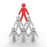 Metáfora de la jerarquía con las figuras humanas Foto de archivo
