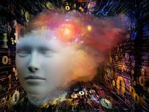 Metáfora de la mente Imagen de archivo libre de regalías