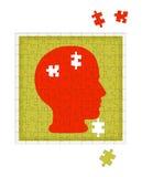 Metáfora de la psicología - desorden de la salud mental, psiquiatría etc Imagen de archivo libre de regalías