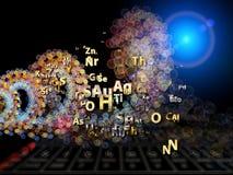 Metáfora de los elementos químicos Foto de archivo libre de regalías