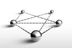 Metáfora de uma comunicação. Conceito. ilustração 3d. Fotografia de Stock