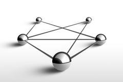 Metáfora de uma comunicação. Conceito. ilustração 3d. Imagens de Stock