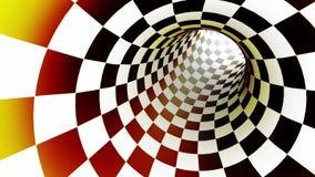 Metáfora del ajedrez de la aspiración animación 3D Colocación inconsútil ilustración del vector