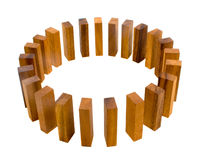 Metáfora del círculo del bloque de la madera fotos de archivo