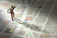 Metáfora del ciudadano de la ciudad Foto de archivo