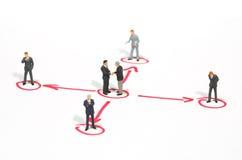 Metáfora del establecimiento de una red Imagen de archivo