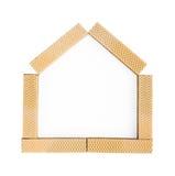 Metáfora del hogar dulce casero con las obleas Fotos de archivo libres de regalías