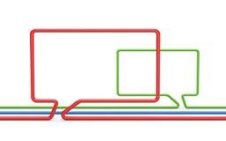 Metáfora do bate-papo Imagem de Stock