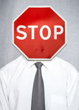 Metáfora do conceito do negócio da falha, esforço, proibição Fotos de Stock
