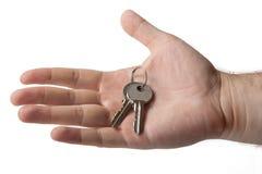 Metáfora para la adquisición de las nuevas viviendas Fotografía de archivo libre de regalías
