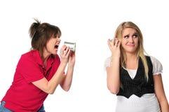 Metáfora que mostra uma comunicação entre gerações Foto de Stock Royalty Free