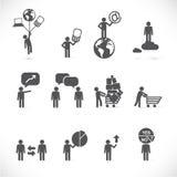 Metáforas del hombre de negocios Imagen de archivo