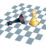 Metáforas del negocio del concepto del ajedrez que ganan Fotografía de archivo libre de regalías