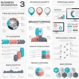 Metáforas del rompecabezas del negocio del vector del infographics del pedazo del rompecabezas fijadas libre illustration