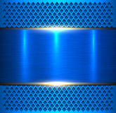 Metálico azul do fundo ilustração stock