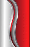 Metálico vermelho do fundo abstrato ilustração stock