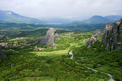 The Metéora. Complexes of Eastern Orthodox monasteries in Greece, the northwestern edge of the Plain of Thessaly Stock Image