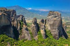 Metéora. Mountains of Metéora in Greece stock images