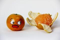 Met afschuw vervulde sinaasappel Stock Foto's