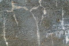 Met barsten met grijze concrete textuurfoto Stock Foto's