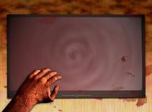Met bloed bevlekte TV 3 stock illustratie