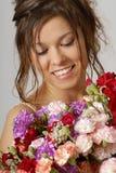 Met bloemen Stock Foto