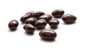 Met chocolade bedekte amandelen Stock Fotografie