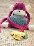 Met de hand gemaakt, aap, gelukkig nieuw jaar 2016, grappig dier Stock Afbeeldingen