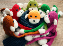 Met de hand gemaakt, aap, gelukkig nieuw jaar 2016, grappig dier Stock Foto