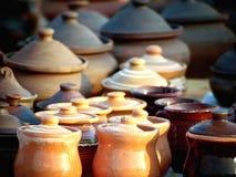 Met de hand gemaakt aardewerk stock foto's