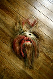 Met de hand gemaakt antiek Afrikaans masker Royalty-vrije Stock Foto