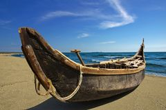 Met de hand gemaakt-boot Stock Fotografie