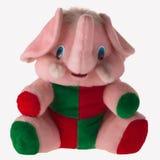 Met de hand gemaakt brei stuk speelgoed, olifant Stock Foto