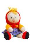 Met de hand gemaakt brei stuk speelgoed, pop Royalty-vrije Stock Afbeelding