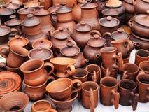Met de hand gemaakt ceramisch aardewerk royalty-vrije stock foto's