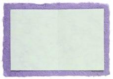 Met de hand gemaakt document met lege nota royalty-vrije stock foto