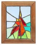Met de hand gemaakt gebrandschilderd glasvenster Stock Foto's