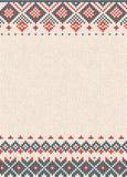 Met de hand gemaakt gebreid abstract patroon als achtergrond met Skandinavisch o stock illustratie