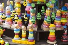 Met de hand gemaakt houten speelgoed Royalty-vrije Stock Fotografie