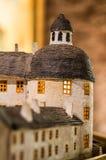 Met de hand gemaakt kasteel van Borgholm, Zweden Royalty-vrije Stock Afbeeldingen