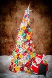 Met de hand gemaakt Knoop en Pin Christmas Tree Stock Afbeelding
