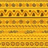 Met de hand gemaakt patroon met etnisch geometrisch ornament Stock Foto